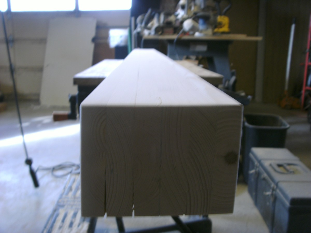 With the sanding done, corners were rounded slightly with a router.