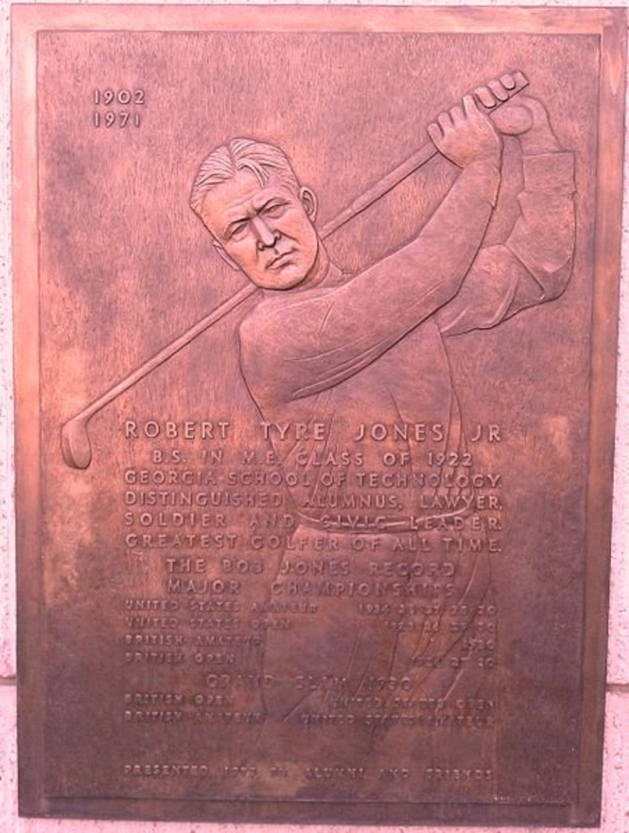 A Plaque Commemorating Bobby Jones at Georgia Tech