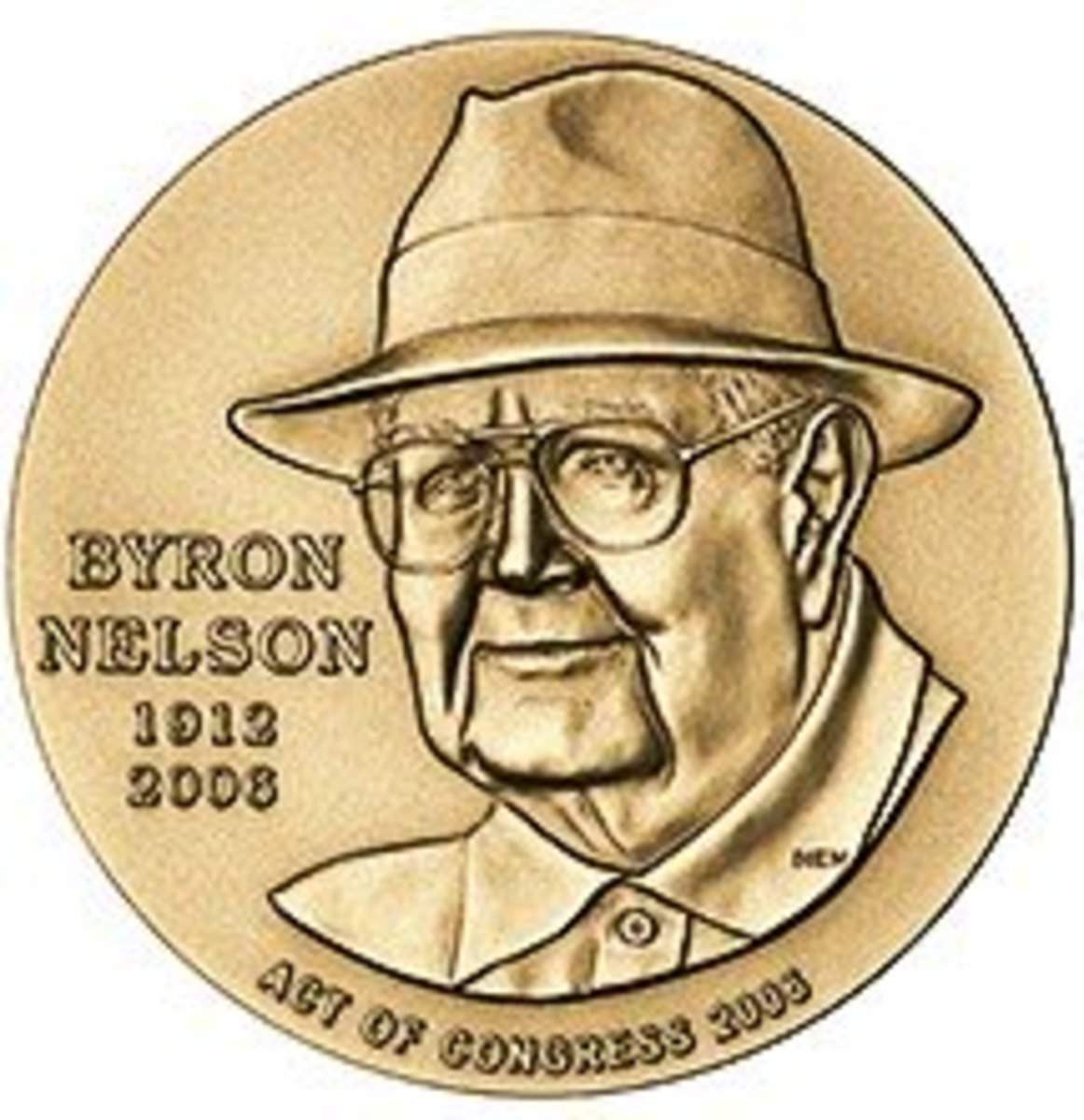 Congressional Medal Depicting Byron Nelson