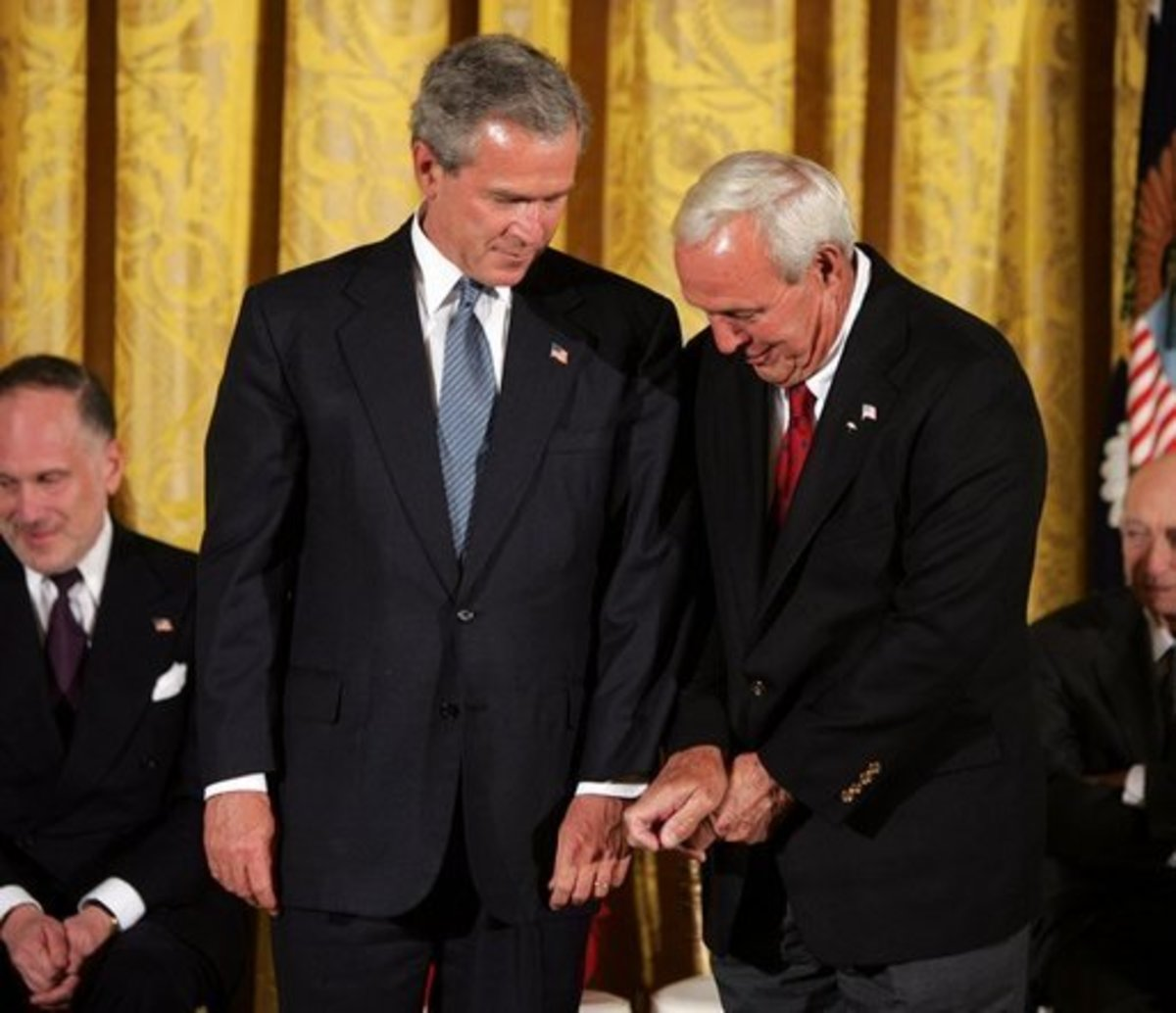 Arnold Palmer Receiving the Presidential Medal of Freedom from then-President George W. Bush in June 2004
