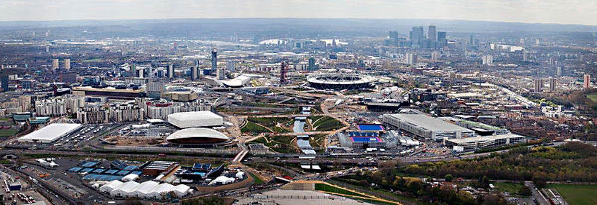 The Olympic Park, designed for the London Olympics