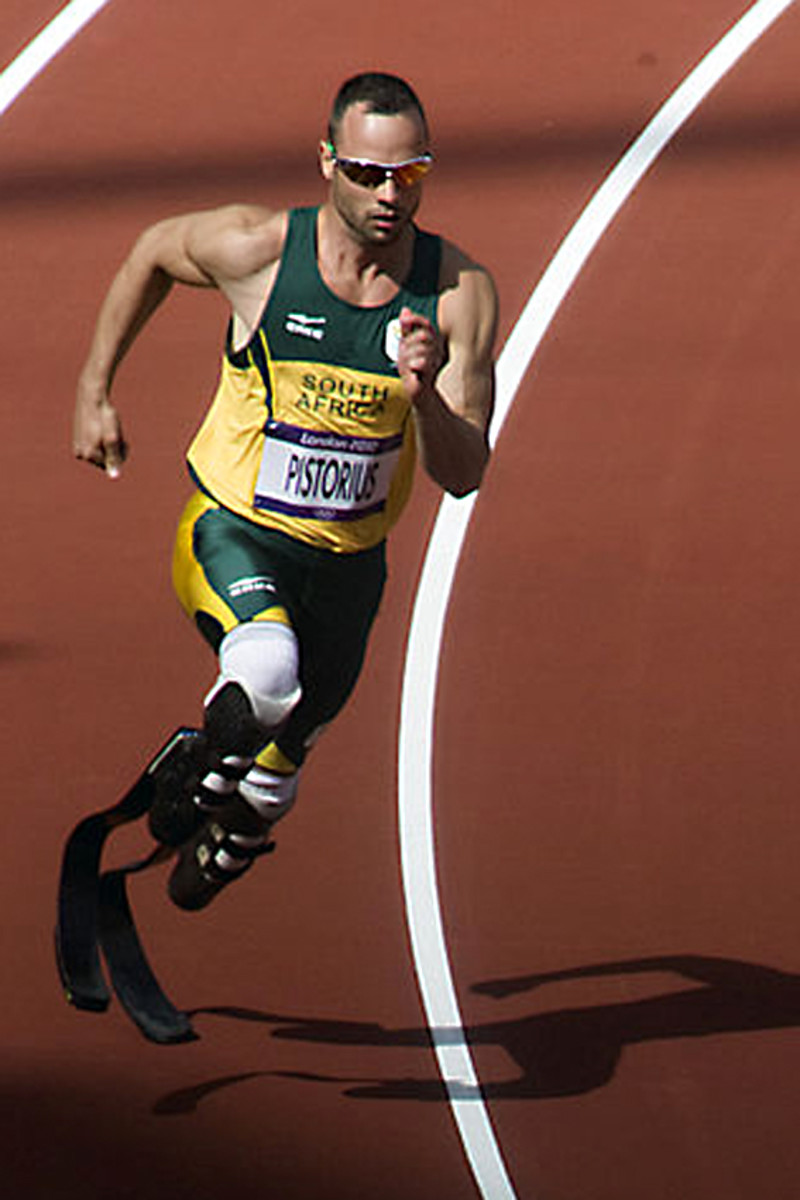 Oscar Pistorius runs in the heats of the 400m. This South African double-amputee is the most famous of all Paralympians.