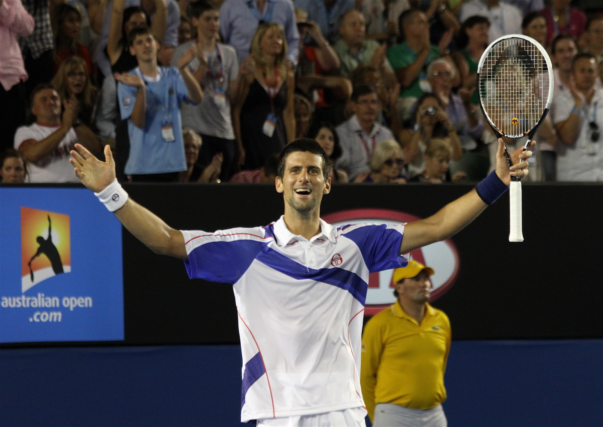 Djokovic after winning the 2011 Australian Open