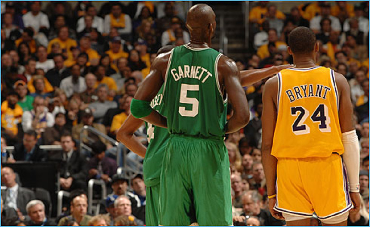 Kevin Garnett and Kobe Bryant