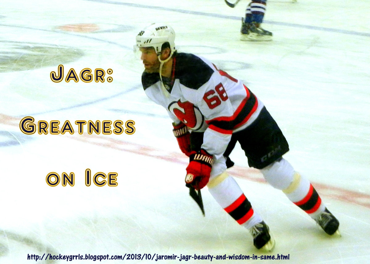 To see grace in hockey, watch Jaromir Jagr.