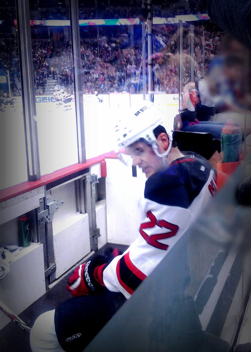 The penalty box, how naughty hockey players are kept away from the public. Photo of Eric Gelinas.