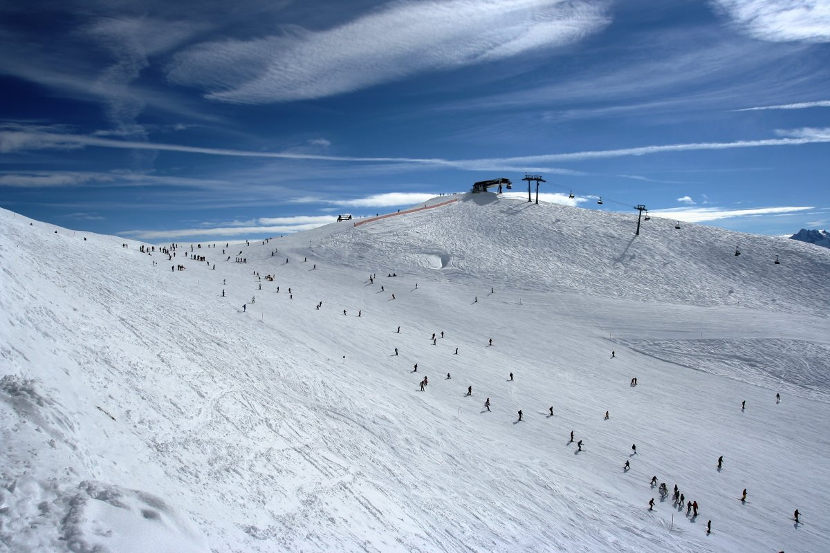 The beautiful ski slope will be skied on during the Alpine Skiing event.