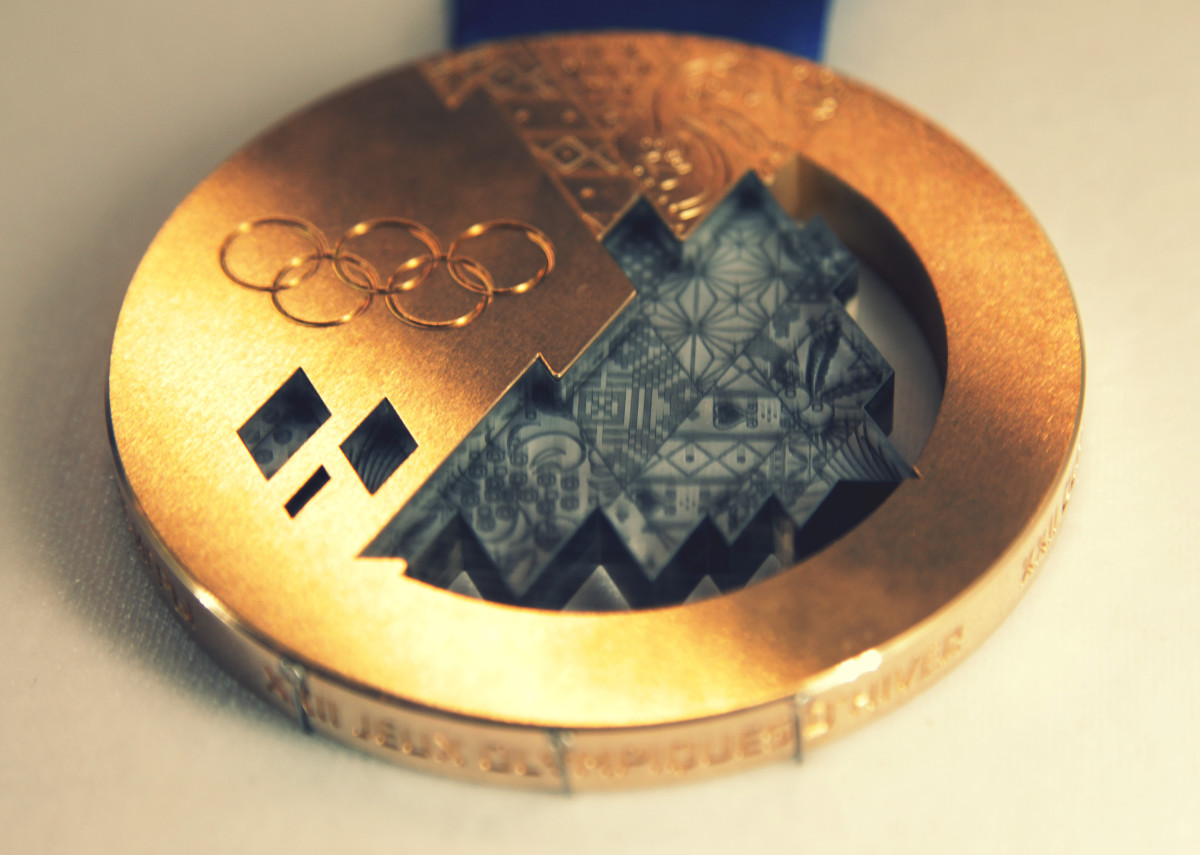 This is the Sochi Winter Olympics 2014 bronze medal.