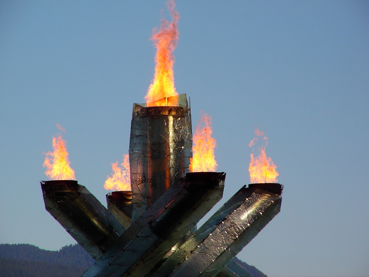 The Vancouver 2010 Olympic flame.