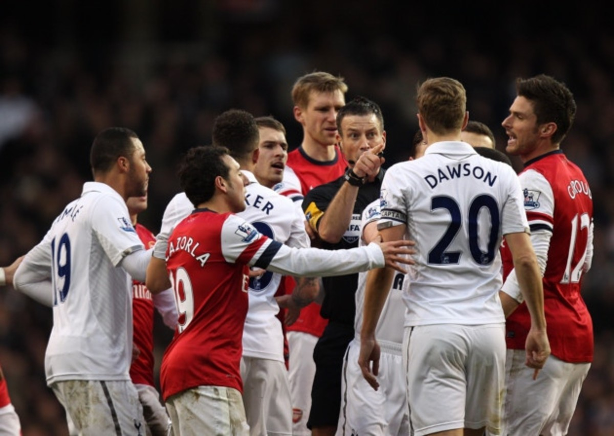 Arsenal and Tottenham play in the North London derby.