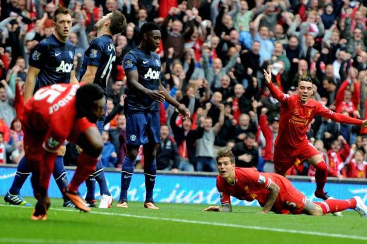 The North West derby features Manchester United vs. Liverpool.