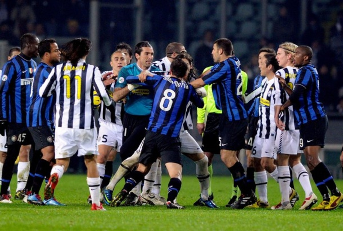 The Derby d'Italia features Inter Milan and Juventus.