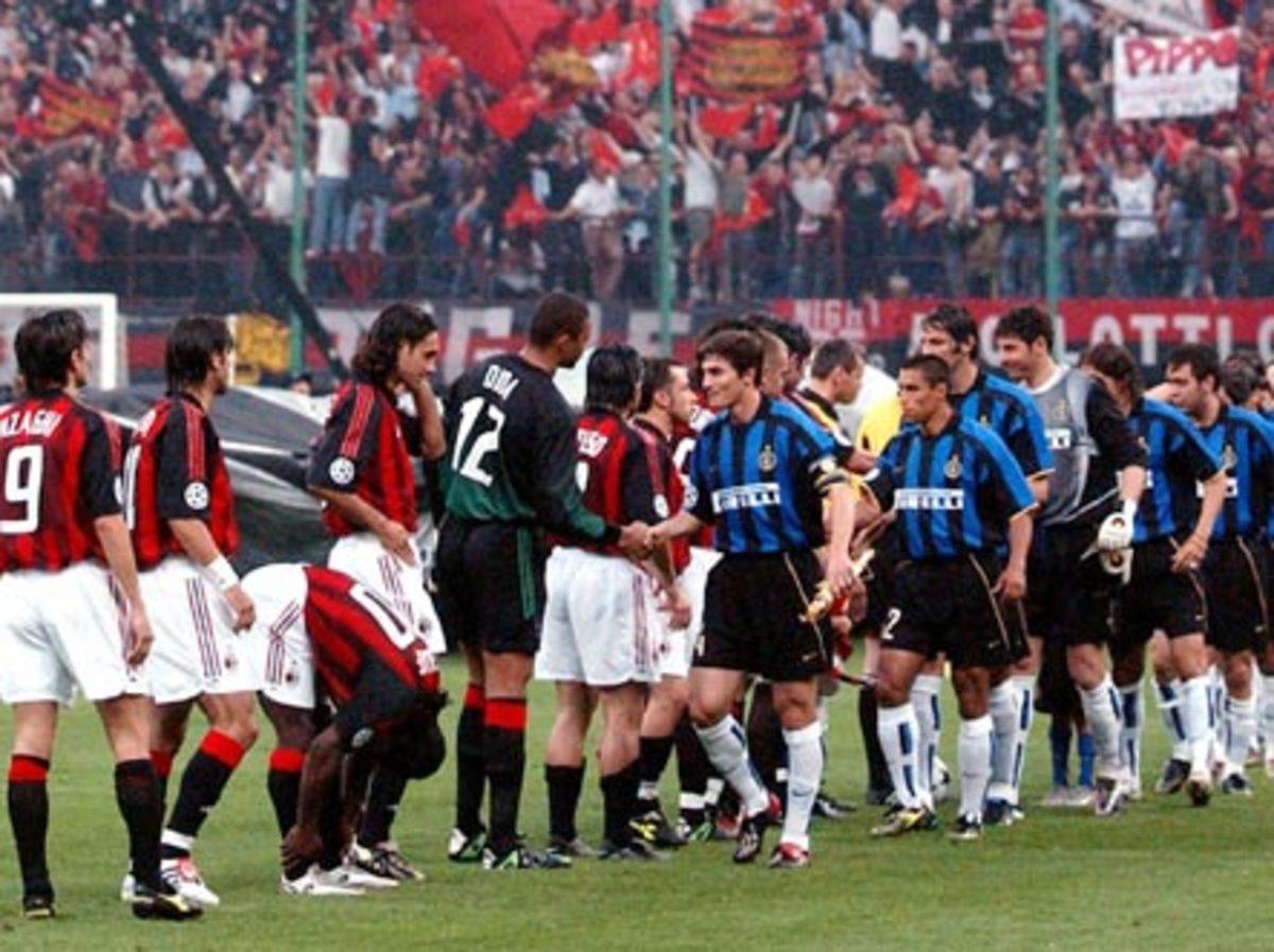 AC Milan and Inter Milan compete in the Milan derby.