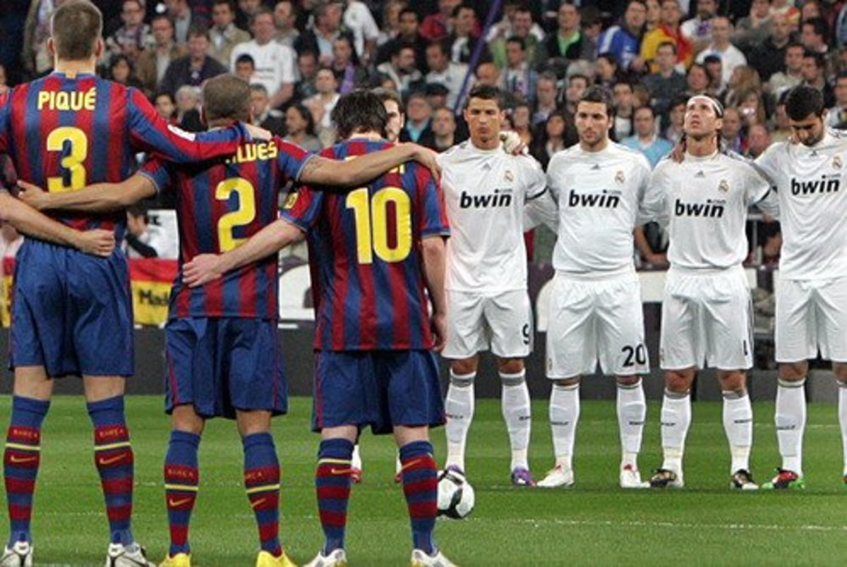El Clásico is played between Real Madrid and Barcelona.