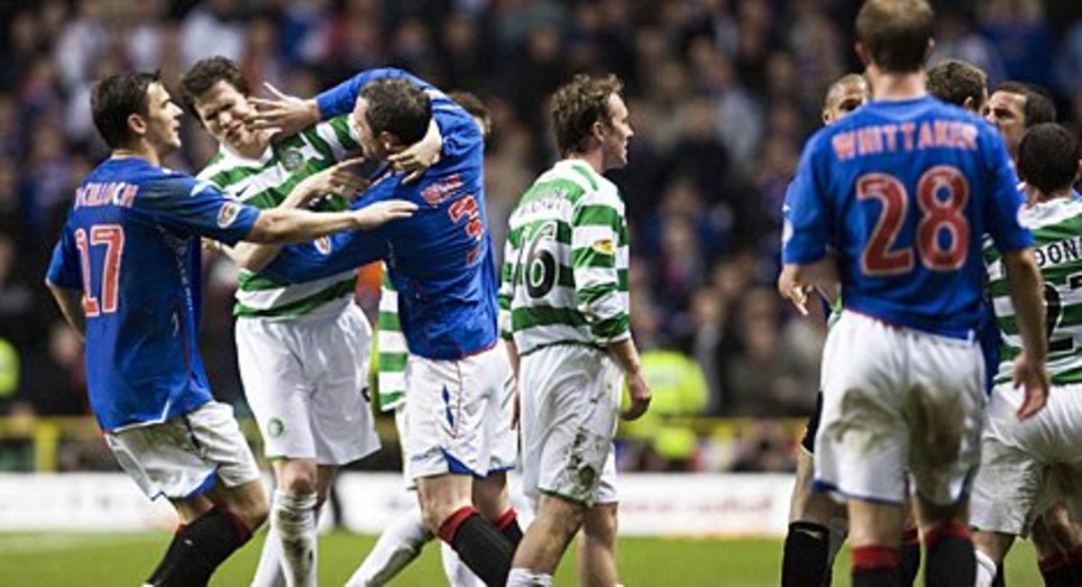 The Old Firm derby sees the Rangers play Celtic.