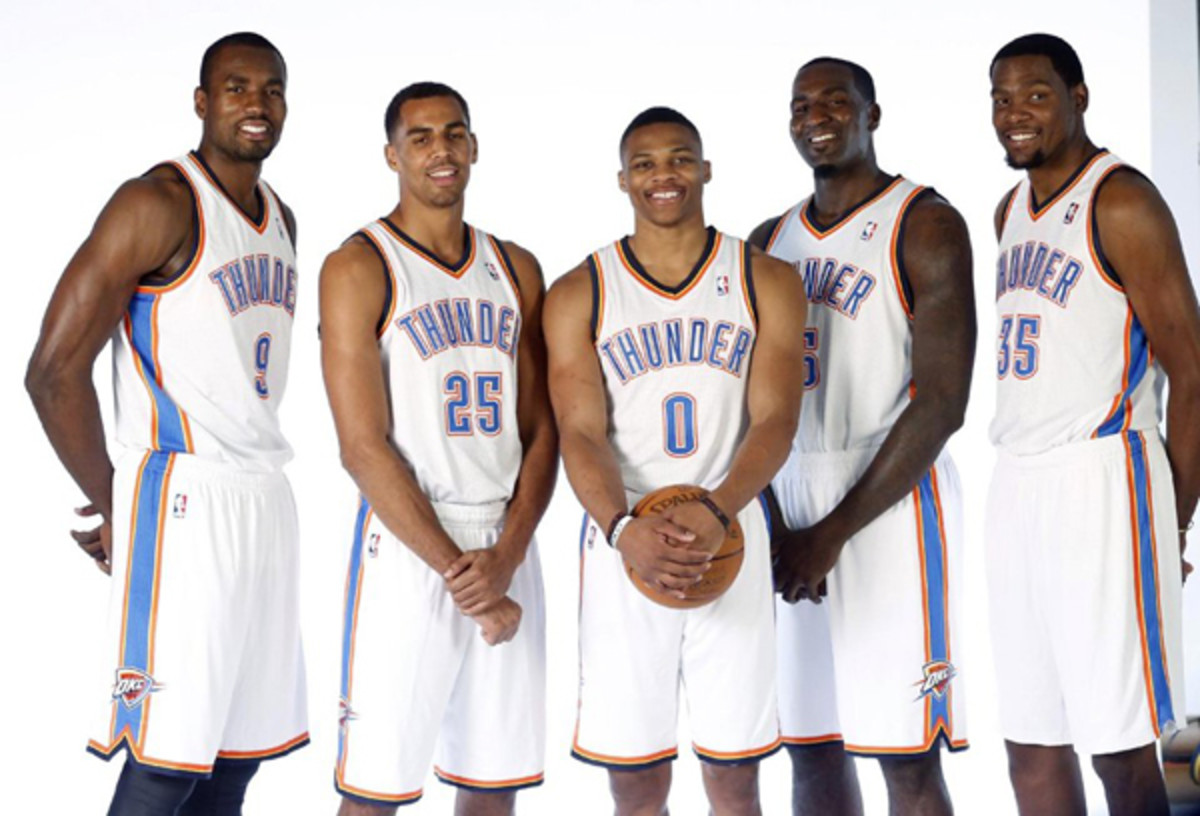 The OKC thunder did a great job of rebuilding through the draft.