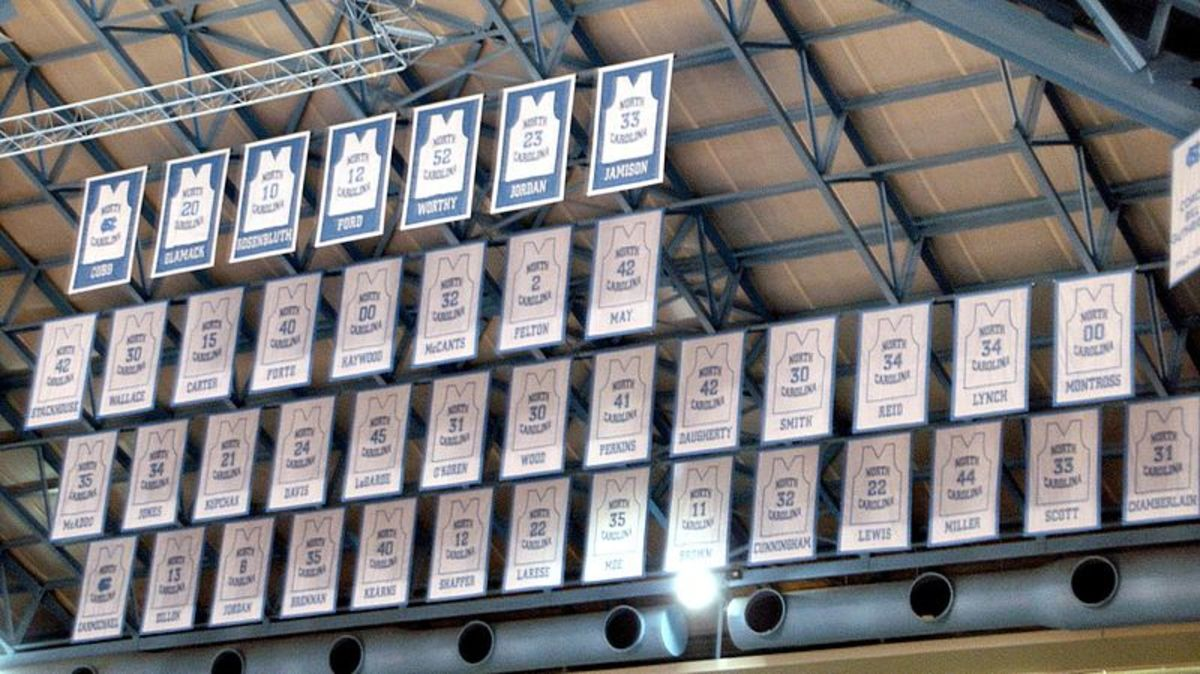 They like to put jerseys in the rafters too