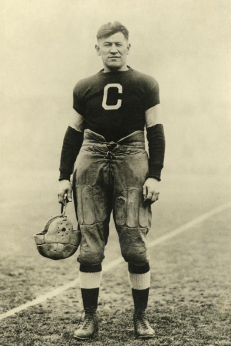 Jim Thorpe in his football uniform, circa 1920s