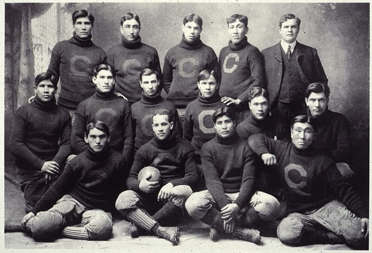 "Glen Scobey ""Pop"" Warner and Carlisle Indians, 1903"