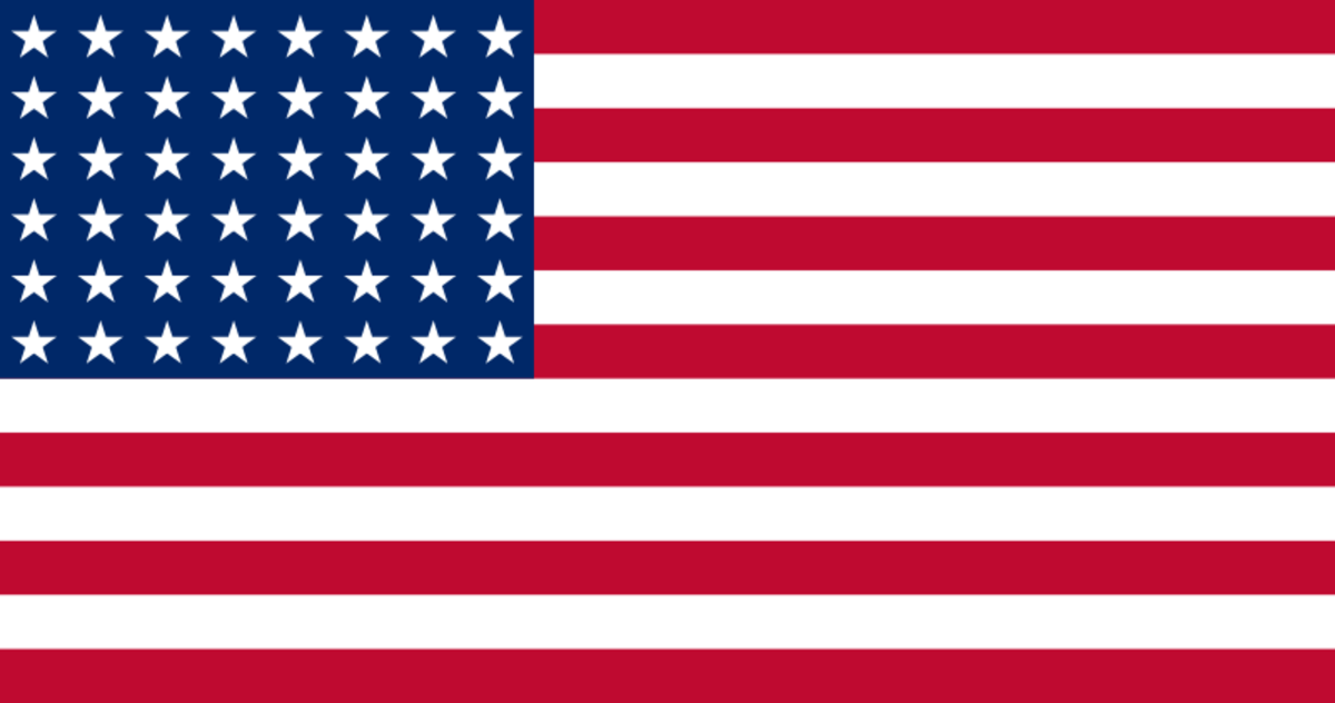 1912 USA 48 star flag