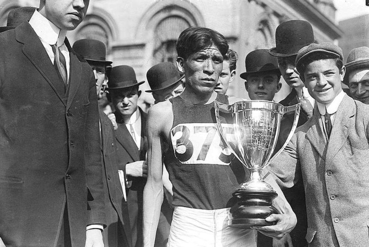 Louis Tewanima at the 1912 Olmypics in Sweden.