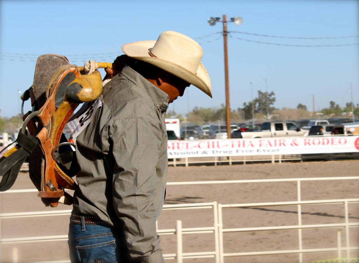 A saddle-bronc rider.