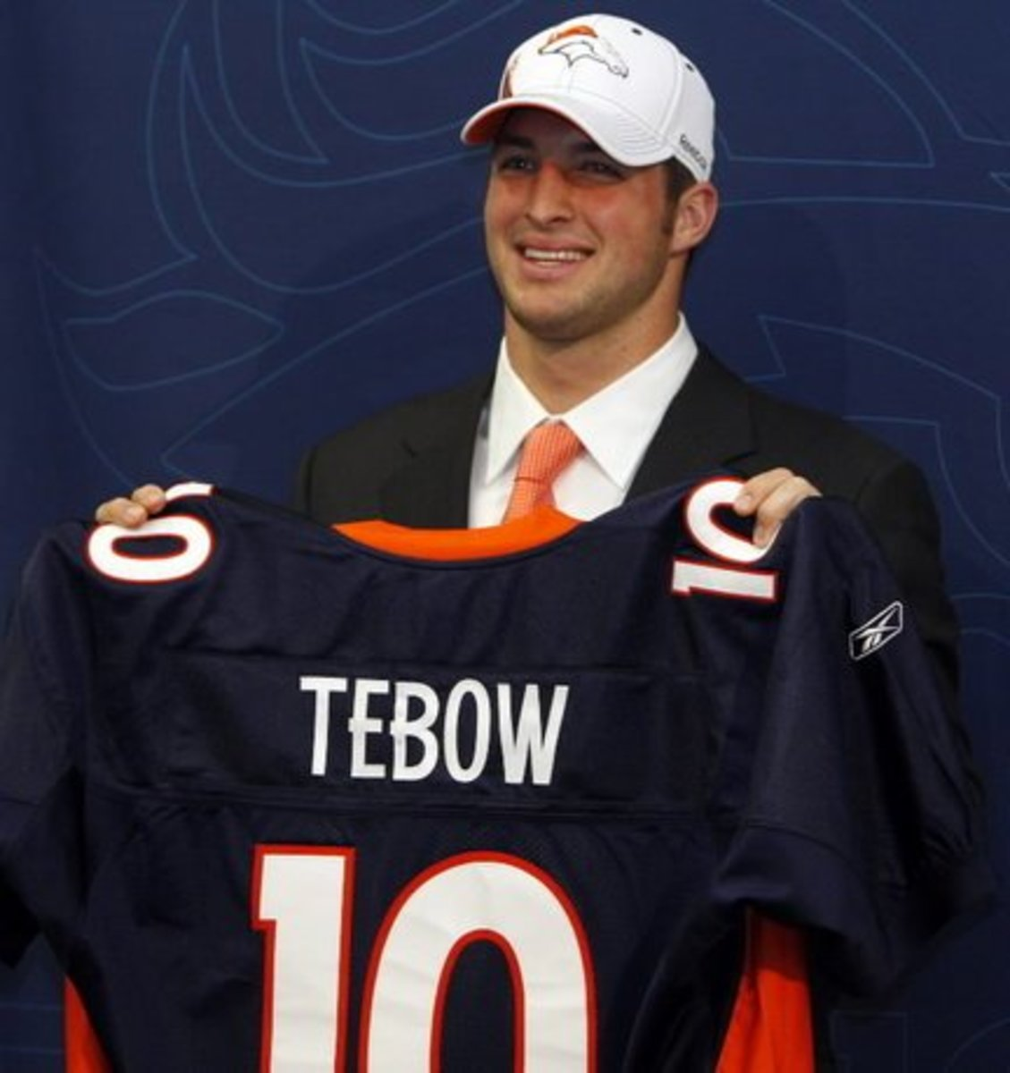 Tim Tebow on Draft Day In 2010.