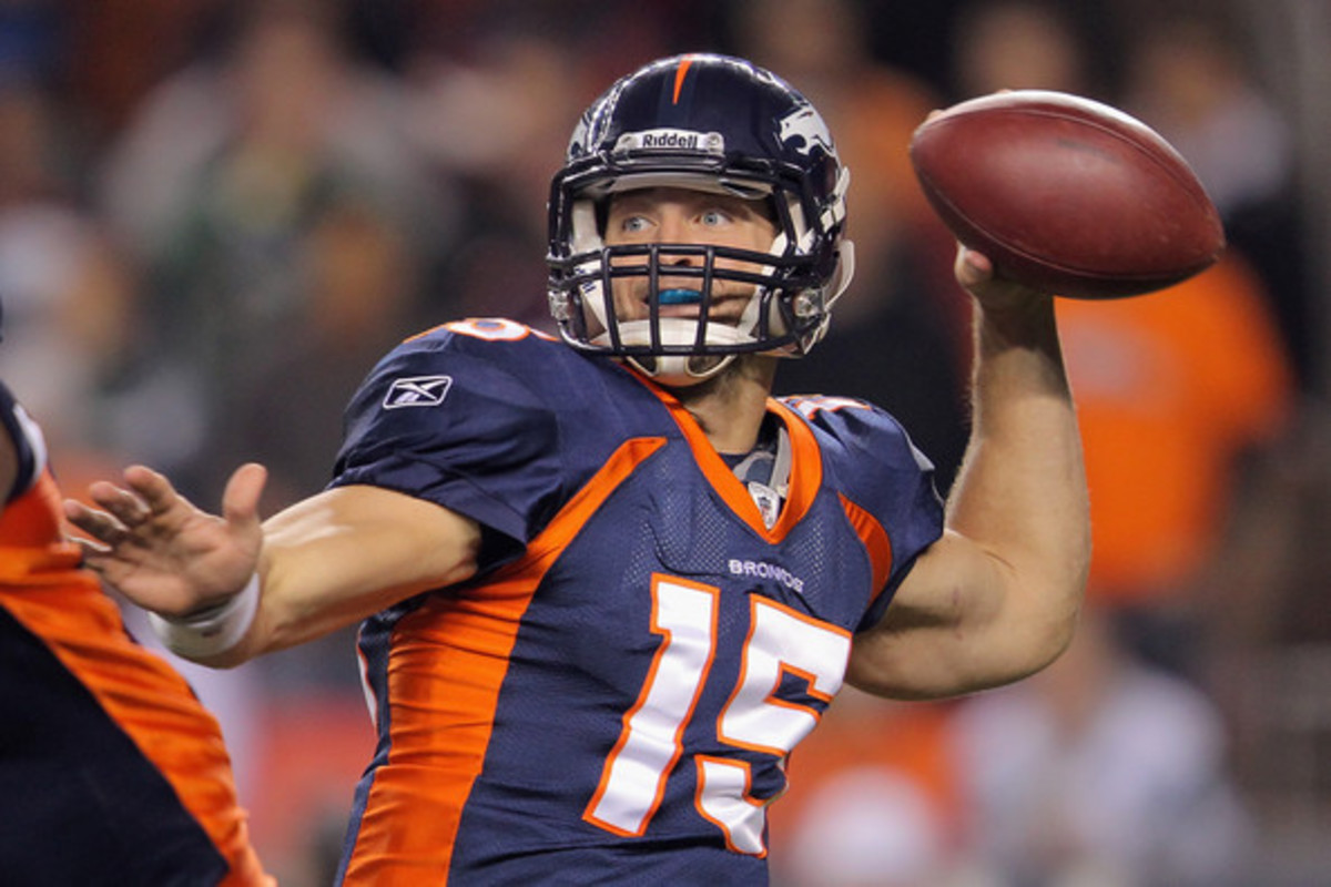 Tebow with the Denver Broncos.
