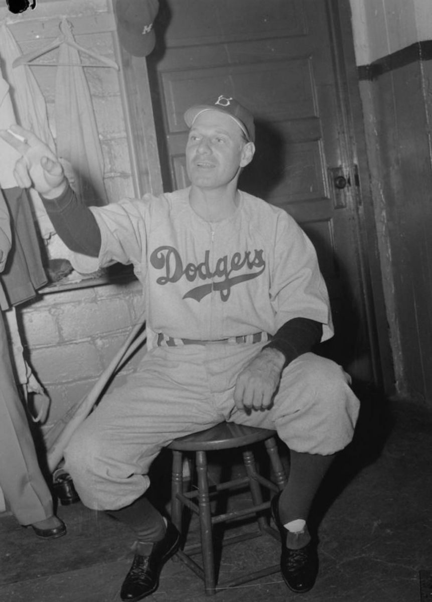 Leo Durocher was Jackie Robinson's first manager in Major League Baseball, and was a friend to him when some of the Dodgers attempted to revolt against the fact there a black player on the roster.
