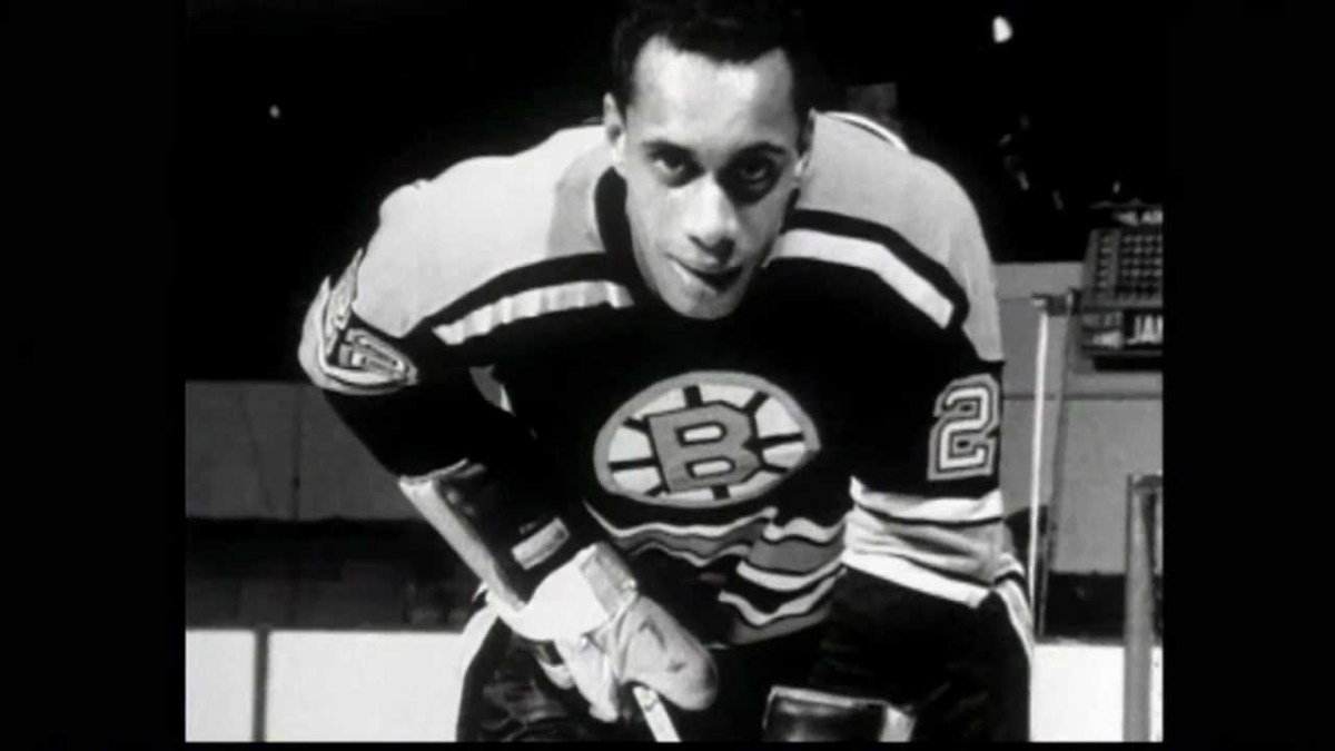 Willie O'Ree during his NHL career.