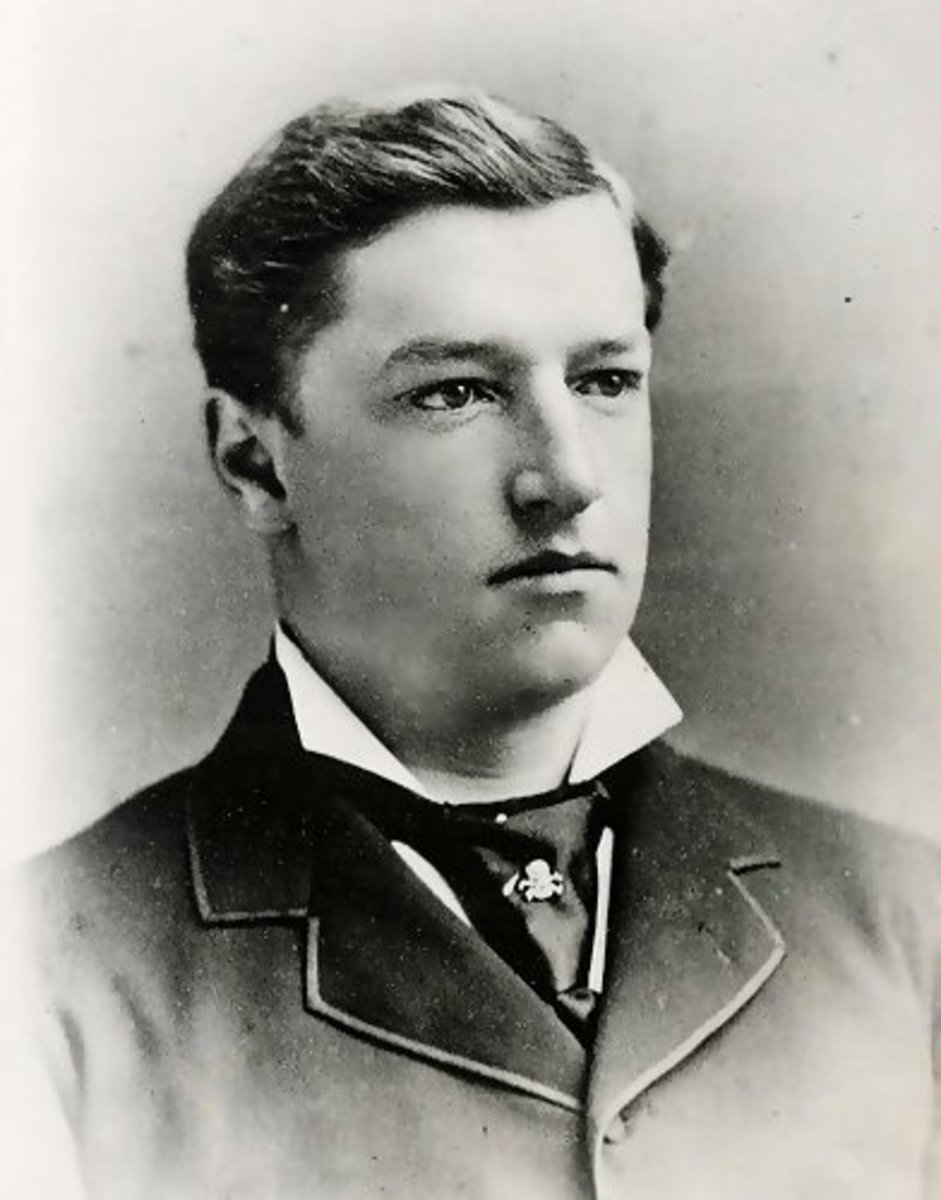 A young Howard Taft at Yale.