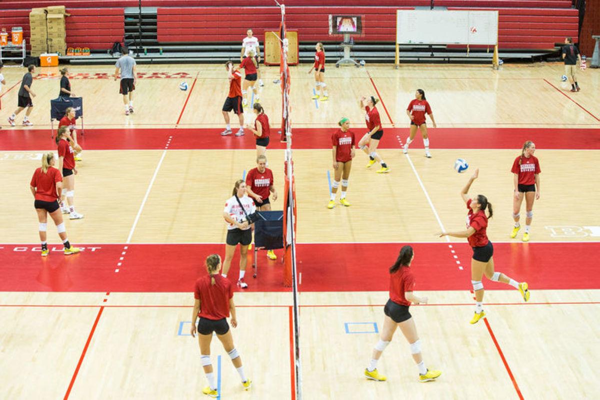 Nebraska Volleyball Practice