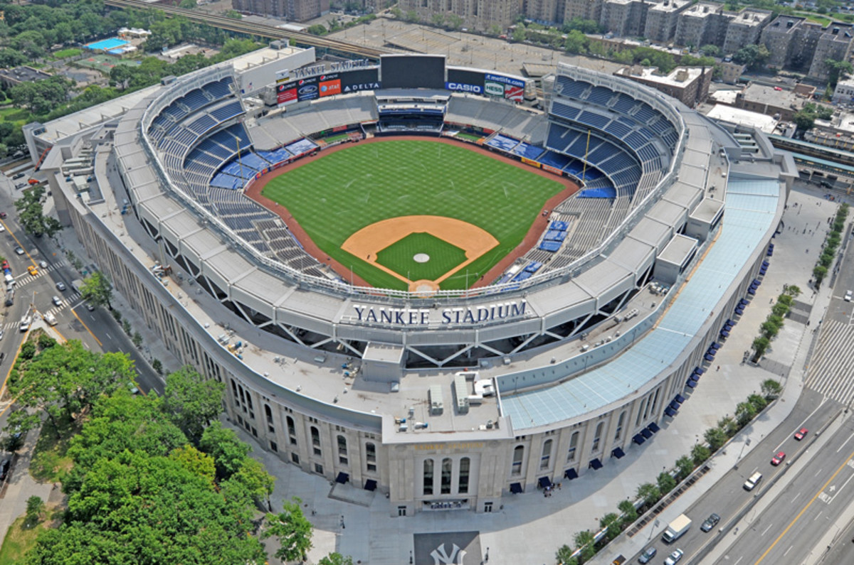 The new Yankee Stadium. It's lacking worshippers. Empty seats litter the lower levels, particiulary behind home plate. It's an embarrasment to Yankee ownership.