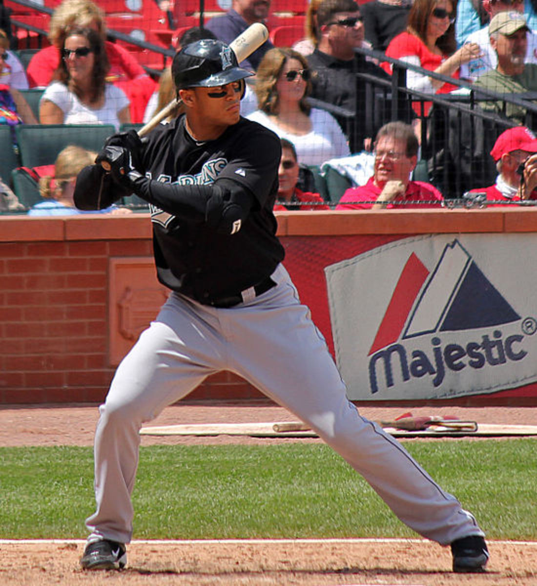 Giancarlo Stanton. At one time, one of the MLB's highest paid.