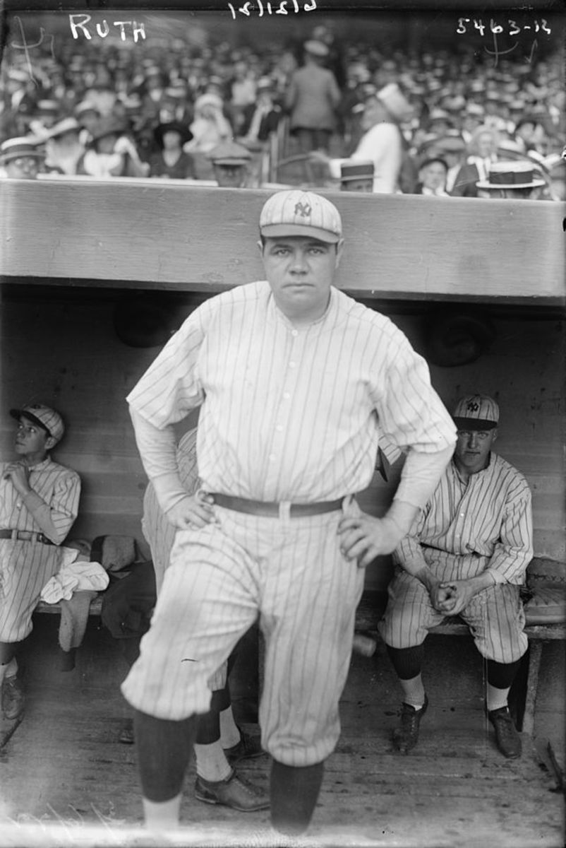 Savior of the game: Babe Ruth as a Yankee in the early '20s. In the wake of the 1919 Black Sox Scandal, Ruth's exploits kept fans coming out to the park.