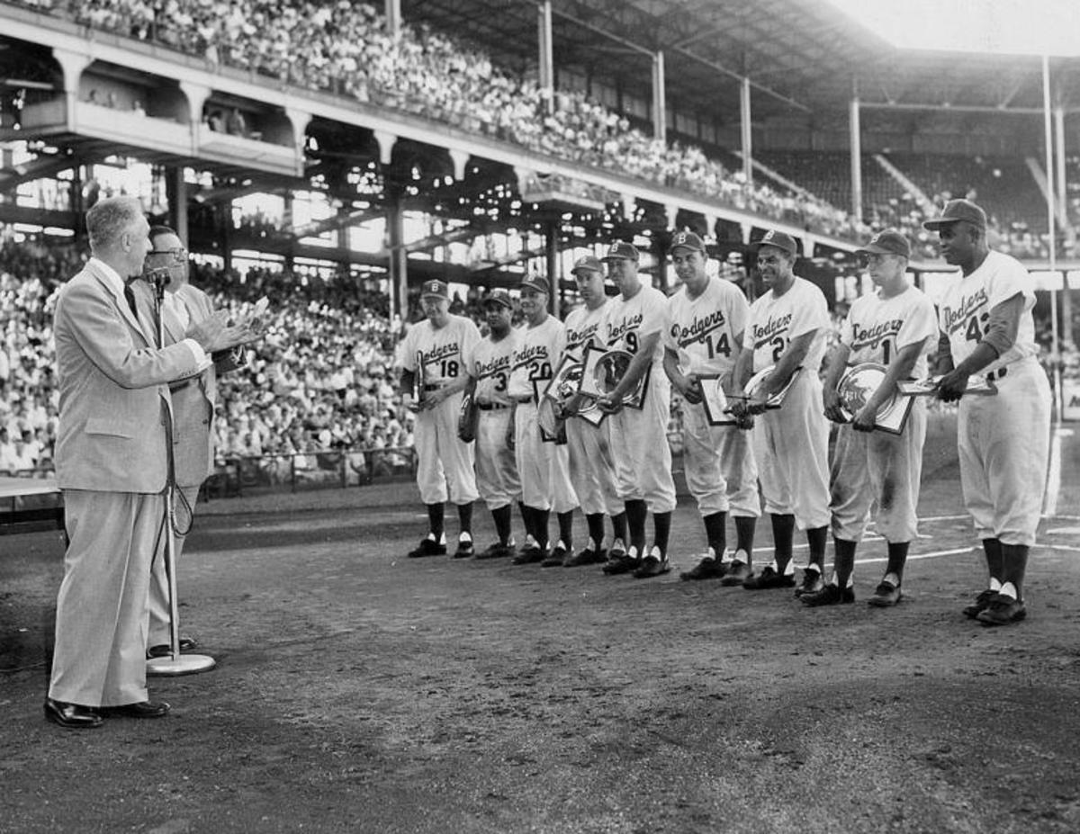 Ebbets Field, 1949.