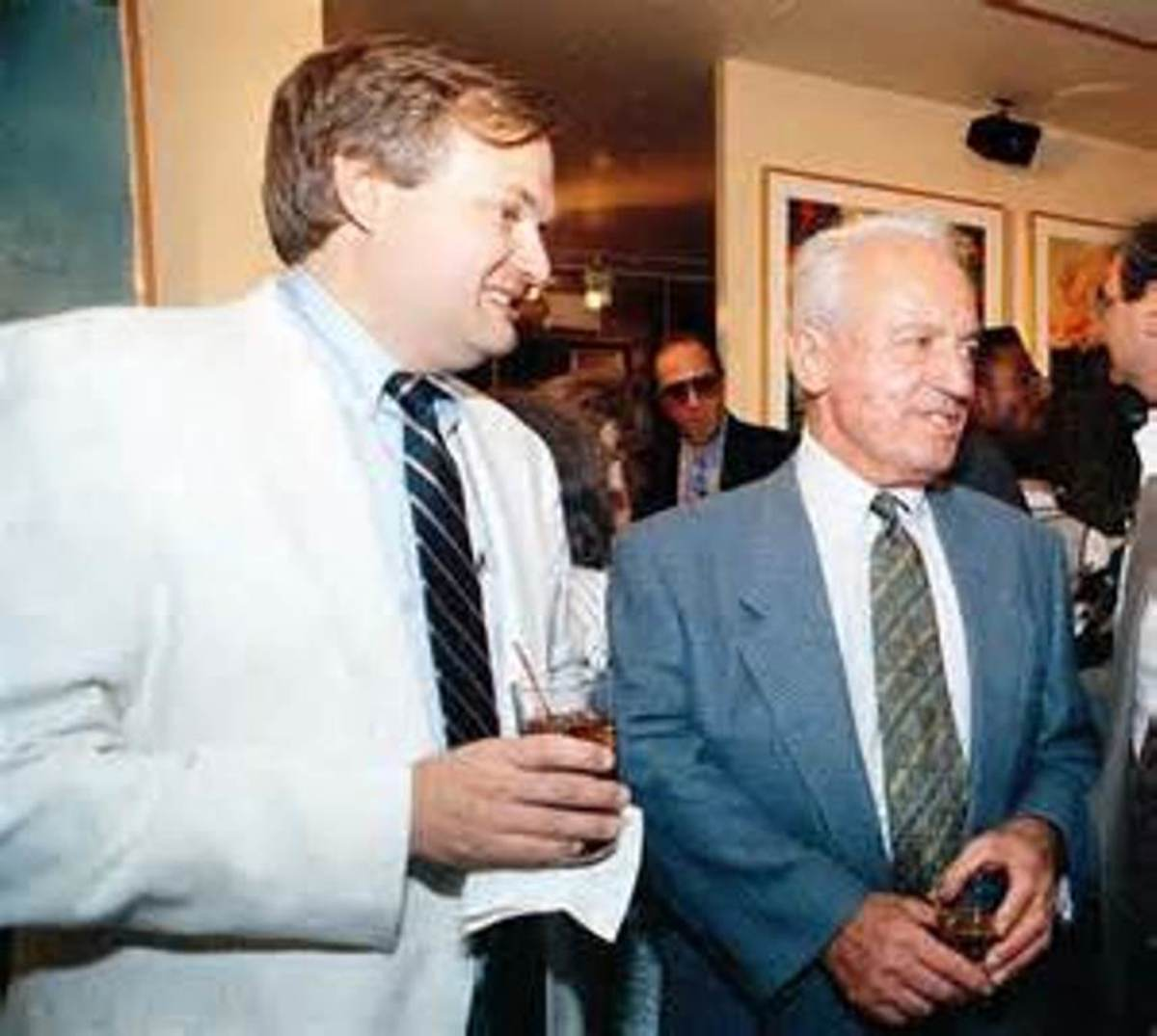 Donald Fehr and the late Marvin Miller. Fehr now works for the NHLPA.