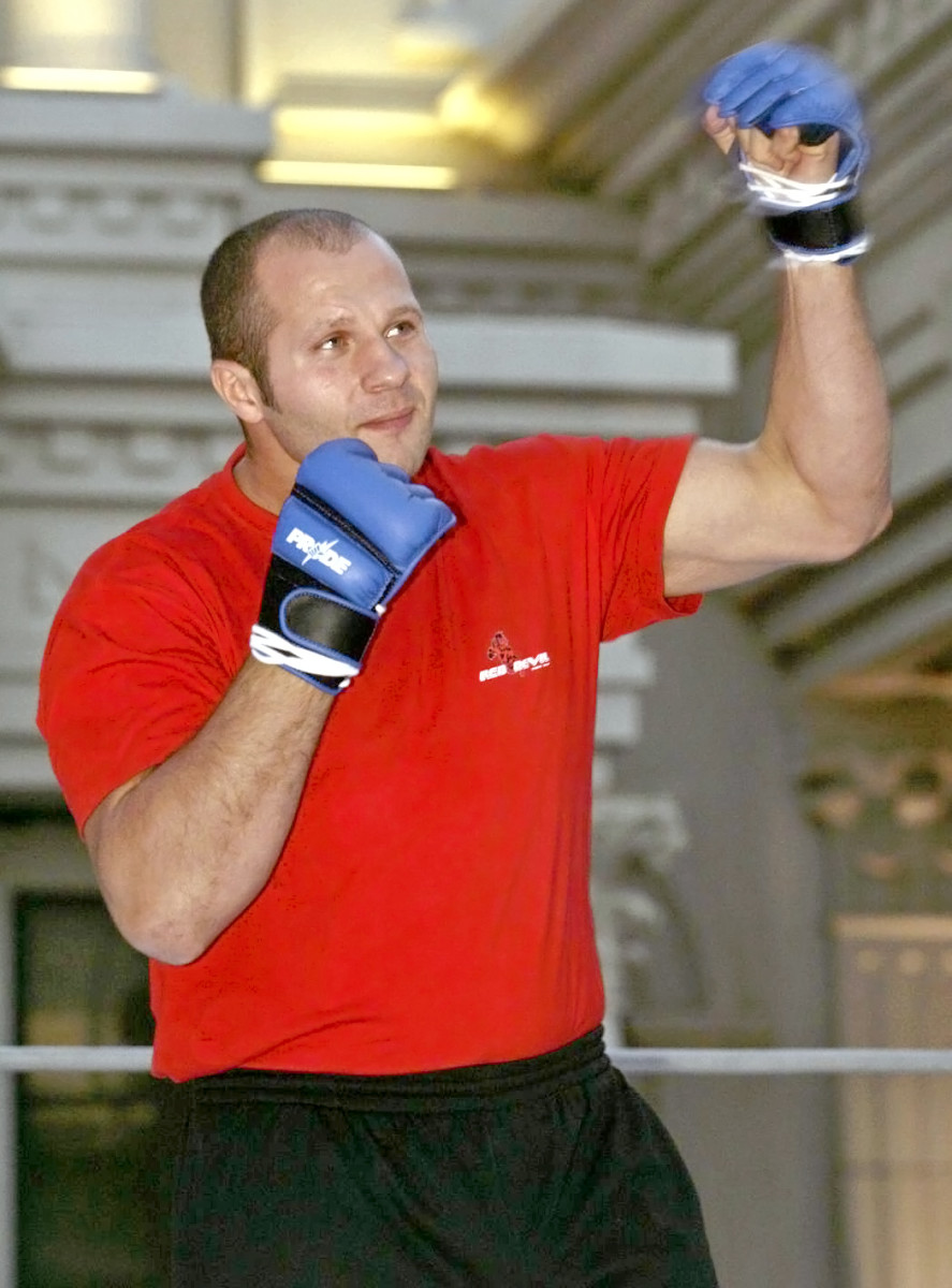 Fedor Emelianenko fought the majority of his career in Pride FC, where he became heavyweight champion.