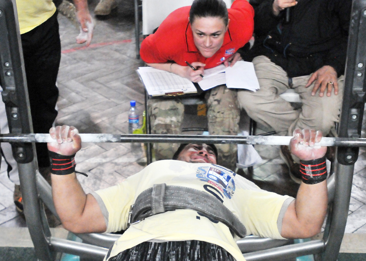 Competitive powerlifters tend to have shorter, broader builds.