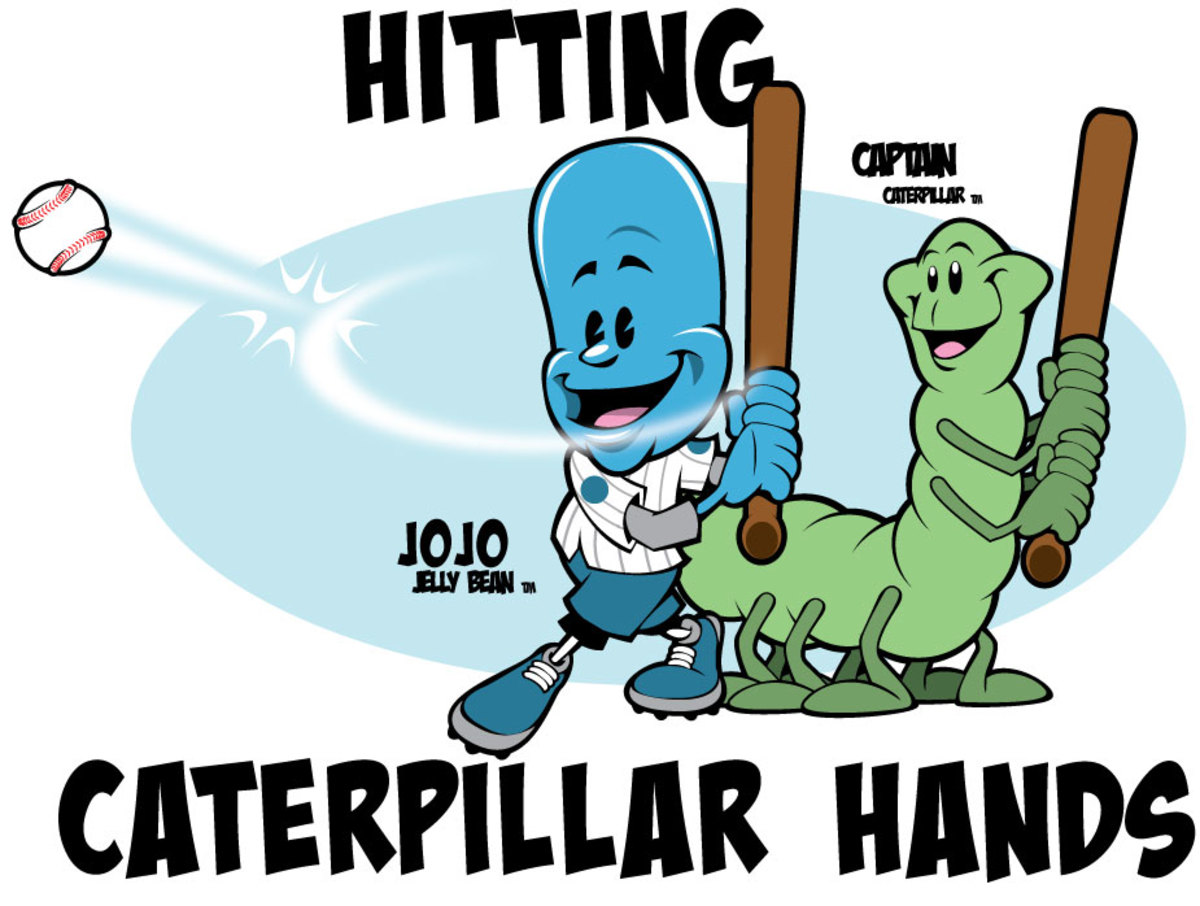 Caterpillar Hands, the proper grip when holding a baseball bay and hitting.