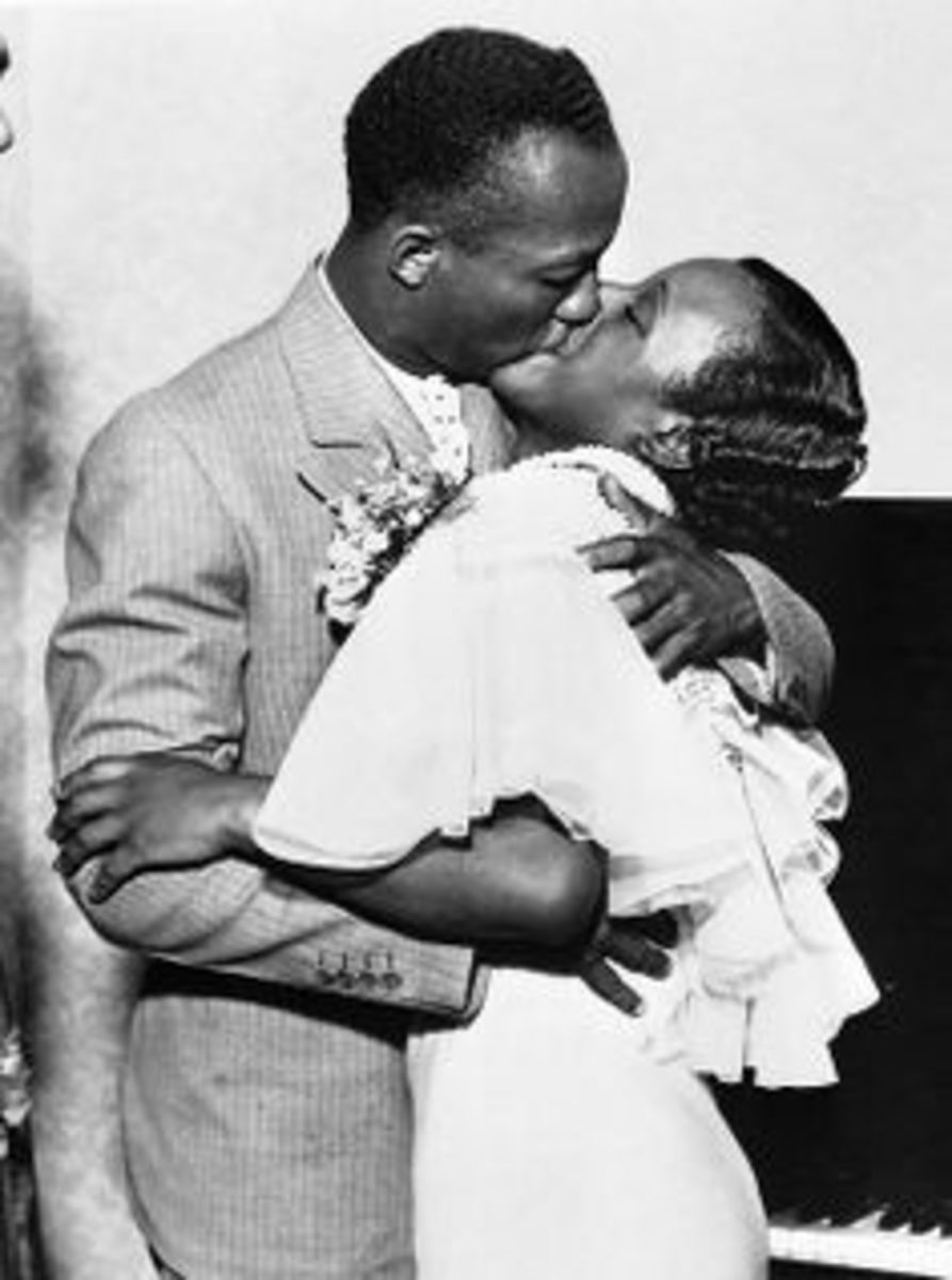 Jesse Owens and wife, Minnie Owens