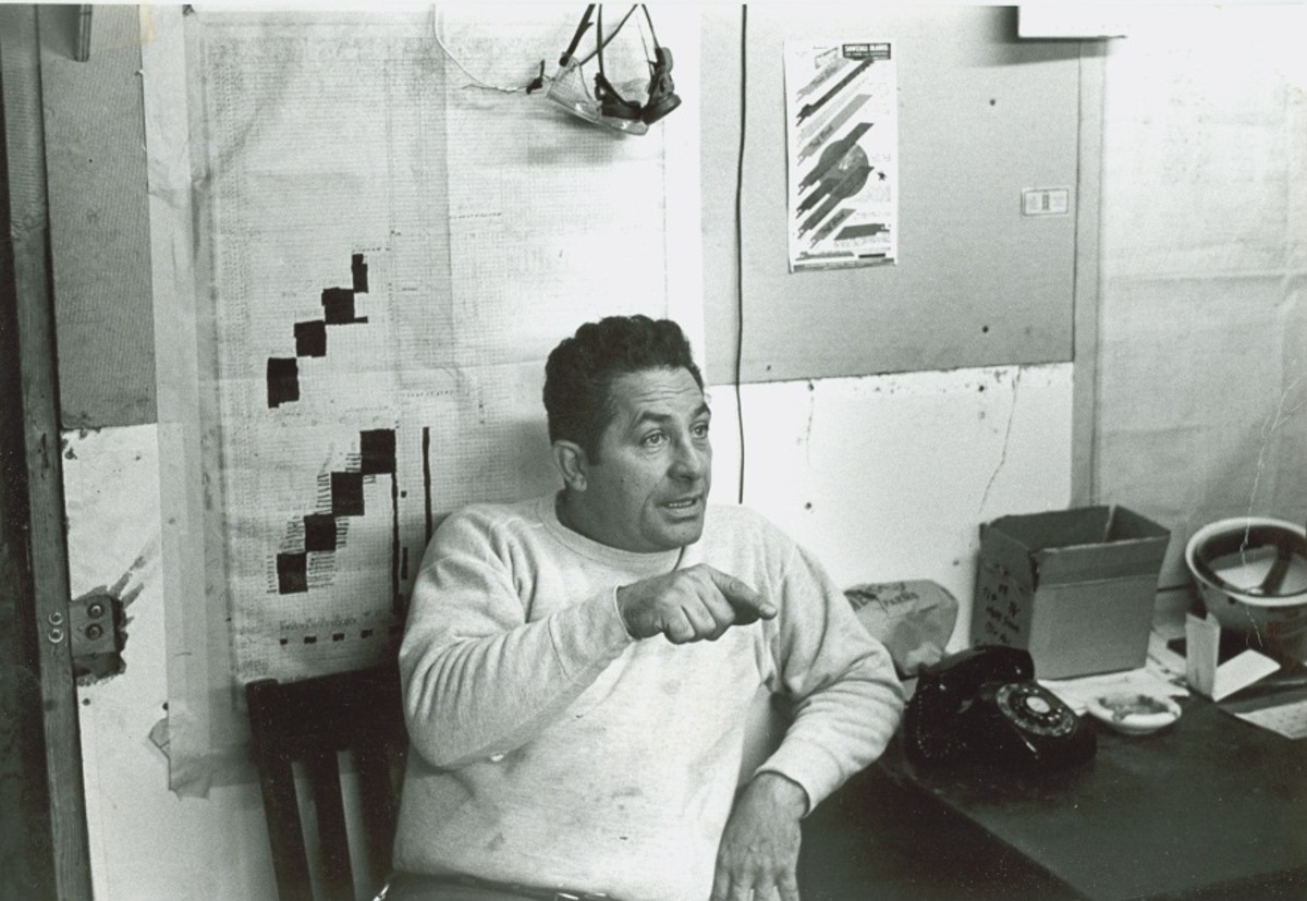 Photo taken of Carl Furillo while working at the World Trade Center installing elevators.