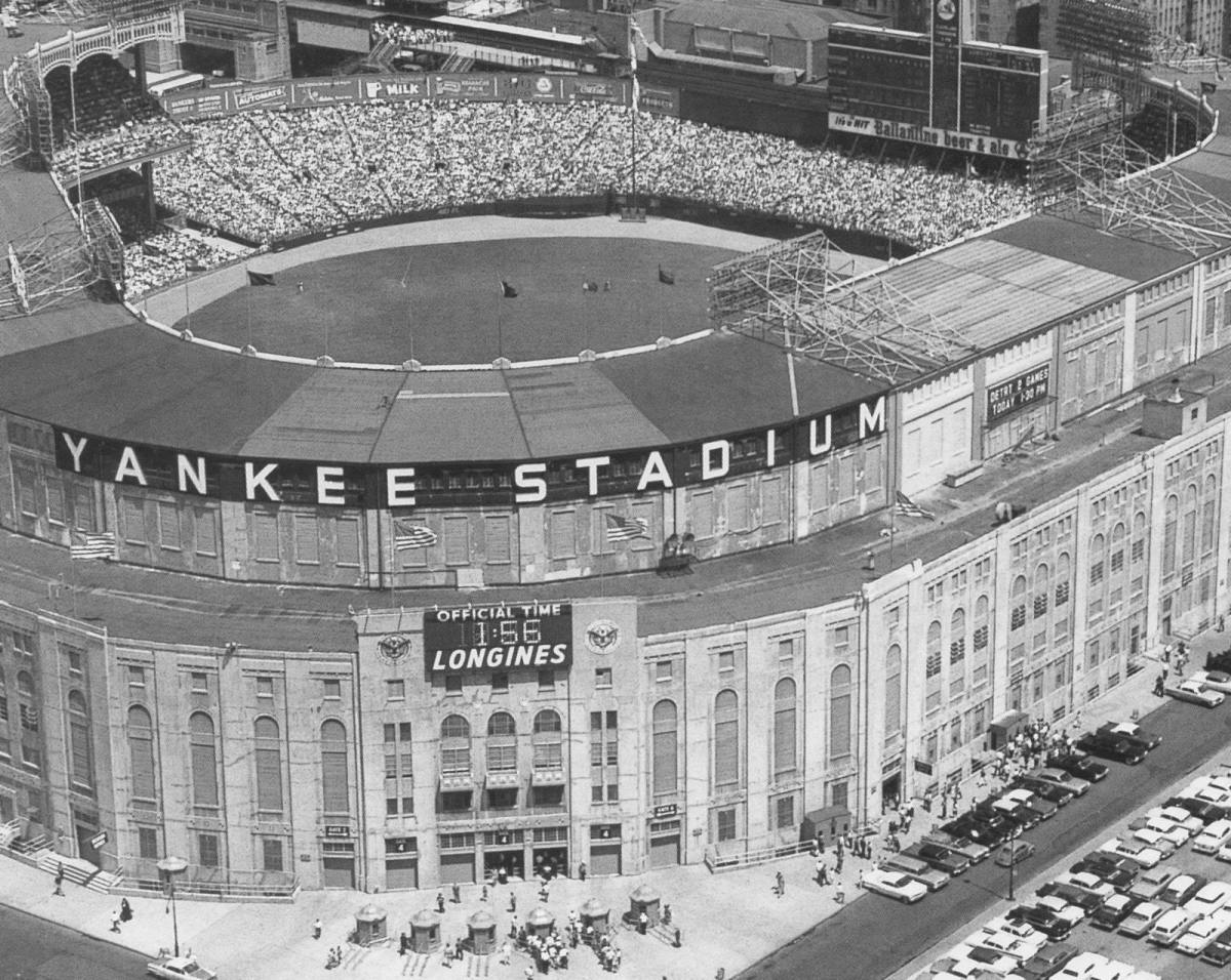 Yankee Stadium in the '50s.