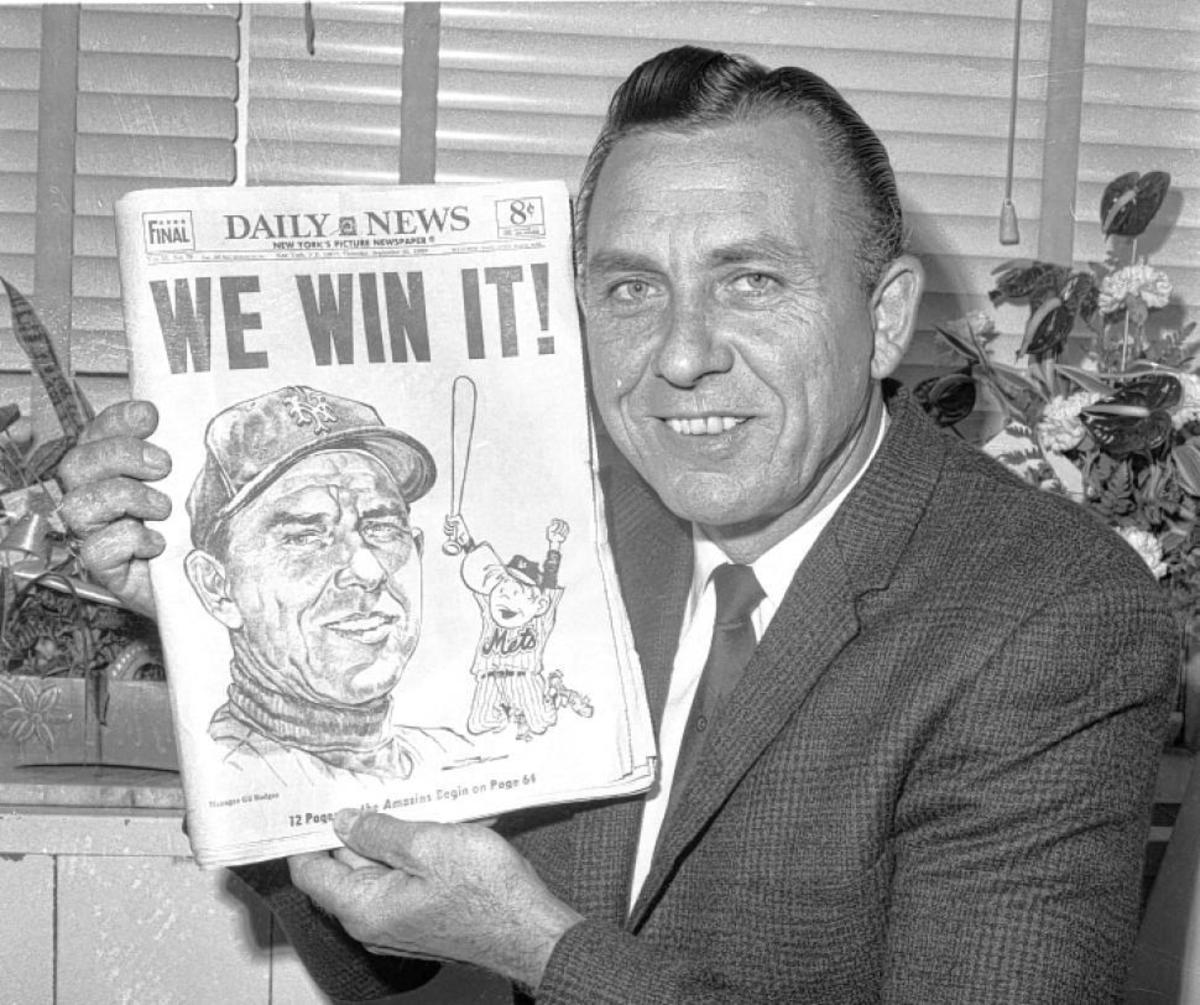 A different path: Gil Hodges soon after winning the 1969 World Series as Mets manager.