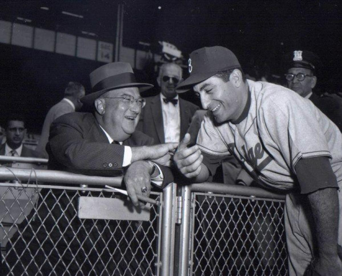 Furillo with Dodger owner Walter O'Malley