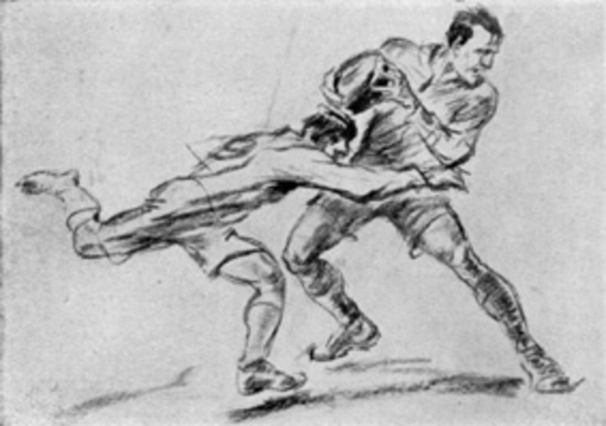 Jean Jacoby, an artist from Luxembourg, won a gold medal in the 1928 Olympics for his drawing of rugby players.