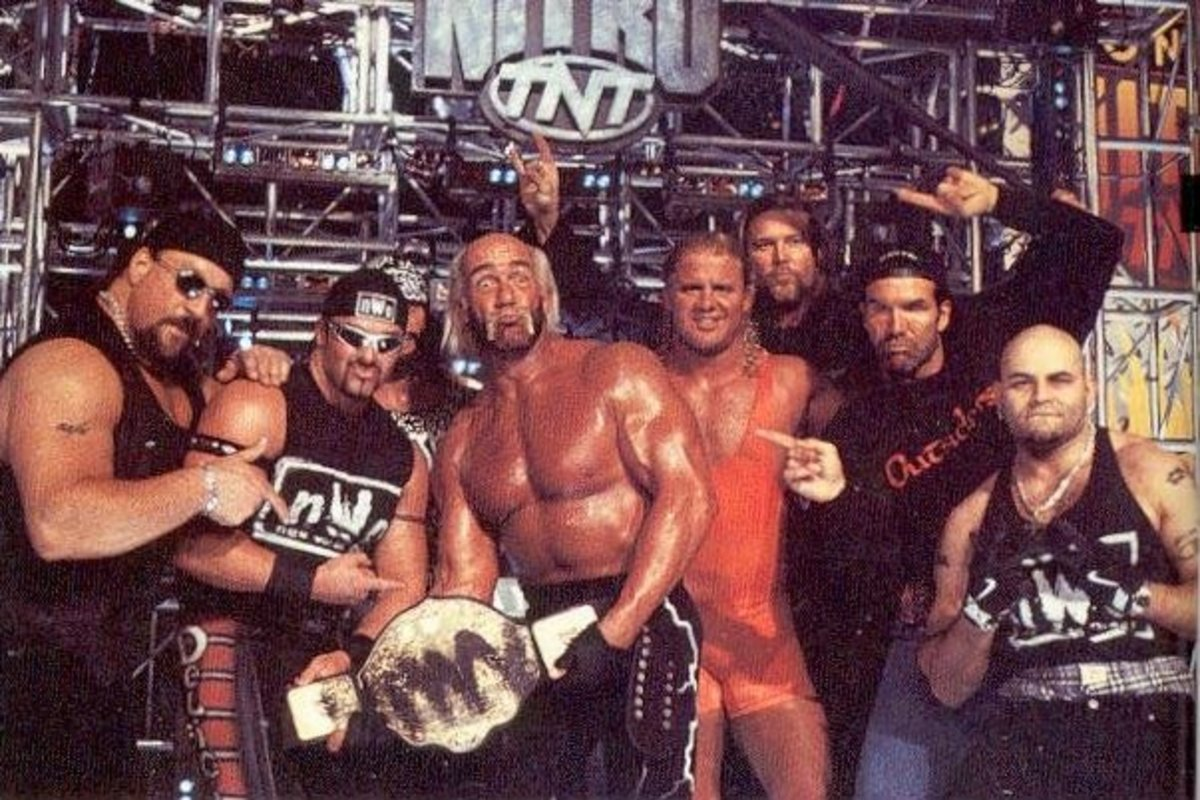 The New World Order consisted on WWF defectors such as Hulk Hogan, Kevin Nash and Scott Hall as well as WCW originals such as Konnan and Buff Bagwell.