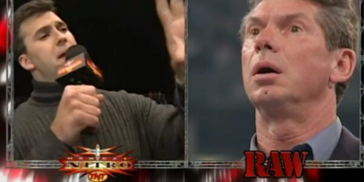 Shane McMahon buys WCW from underneath his father.