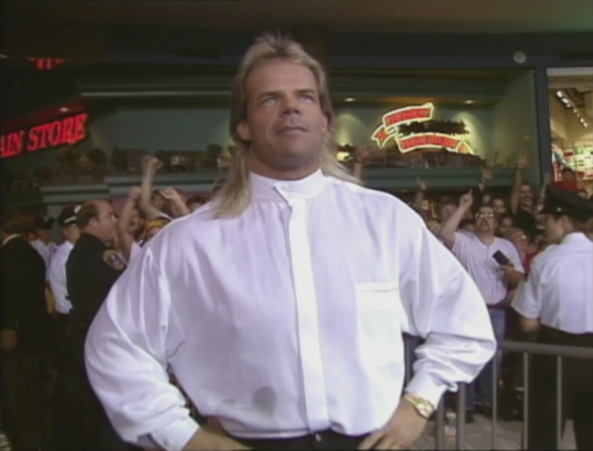 Lex Luger was supposed to be Hulk Hogan's replacement in the WWF but is snagged away by WCW.