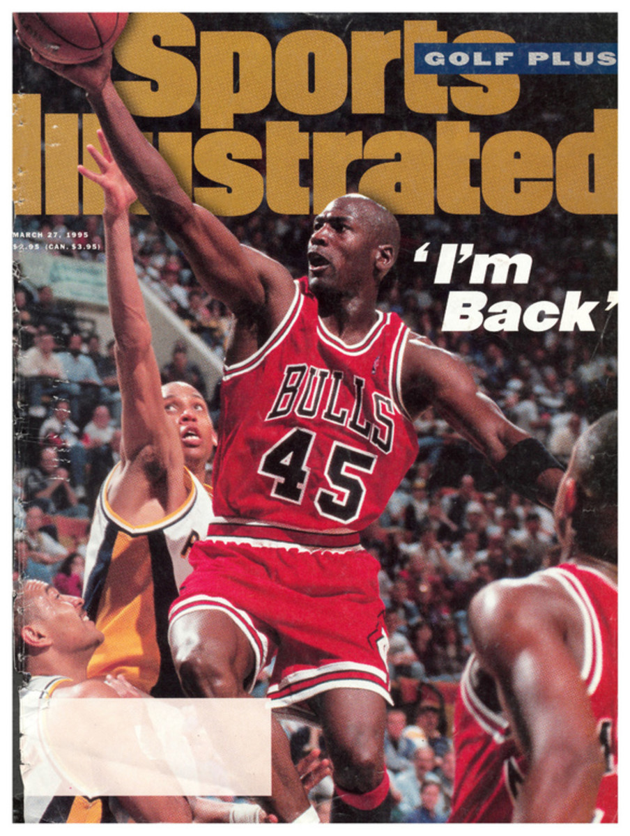 Michael Jordan announces his return to basketball as he made his way on to the cover of Sports Illustrated.